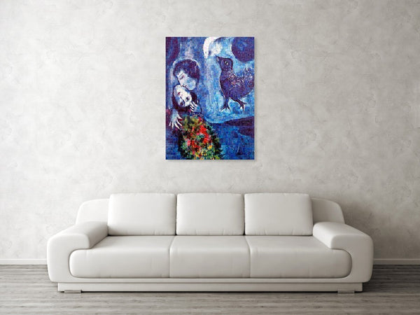 Tribute to Chagall . 4 - Canvas Print - ALEFBET - THE HEBREW LETTERS ART GALLERY