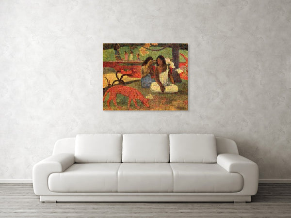 Tribute to Gaugin - Canvas Print - ALEFBET - THE HEBREW LETTERS ART GALLERY