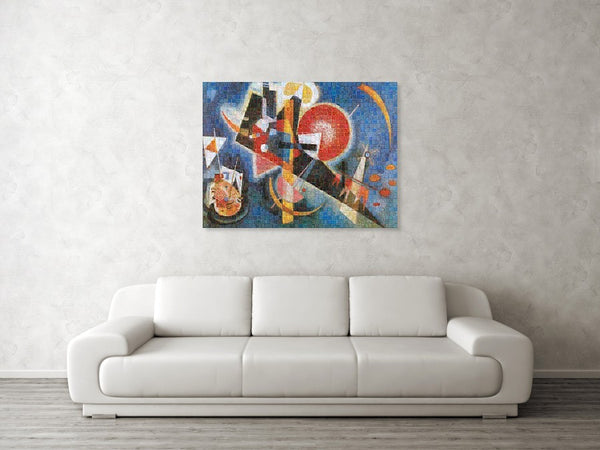 Tribute to Kandinsky - 3  - Canvas Print - ALEFBET - THE HEBREW LETTERS ART GALLERY