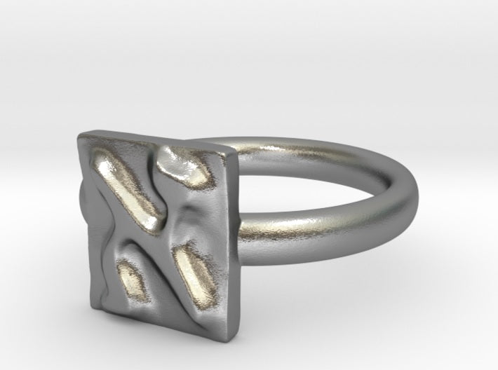 ALEPH silver engagement ring - ALEFBET - THE HEBREW LETTERS ART GALLERY