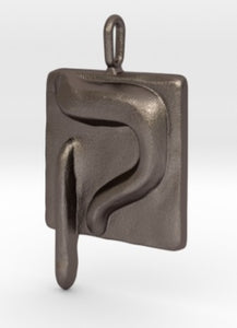 QOF  steel keychain - ALEFBET - THE HEBREW LETTERS ART GALLERY