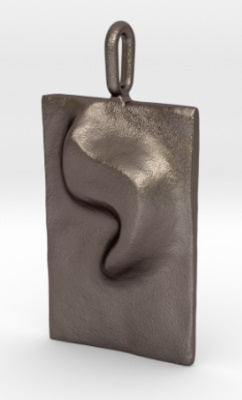 YOD steel keychain - ALEFBET - THE HEBREW LETTERS ART GALLERY