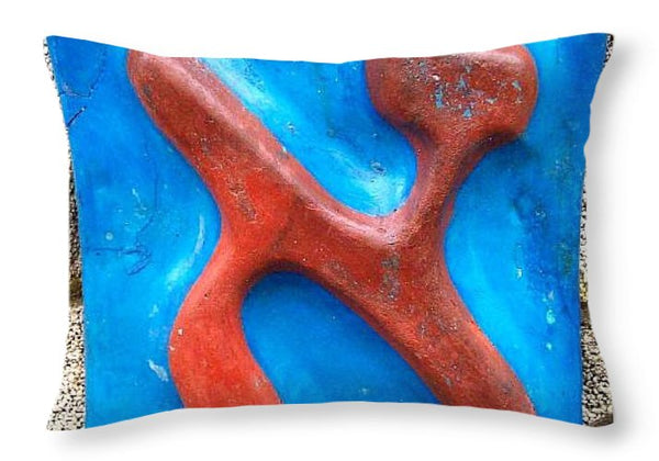 ALEPH as Ernest Hemingway - Throw Pillow - ALEFBET - THE HEBREW LETTERS ART GALLERY