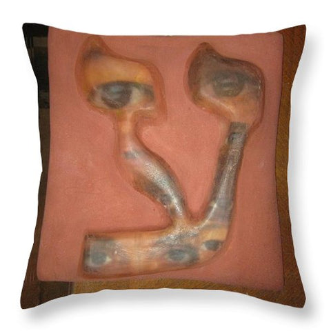 AYN, eye - Throw Pillow - ALEFBET - THE HEBREW LETTERS ART GALLERY
