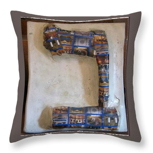 BET as Bet Knesset - Throw Pillow - ALEFBET - THE HEBREW LETTERS ART GALLERY
