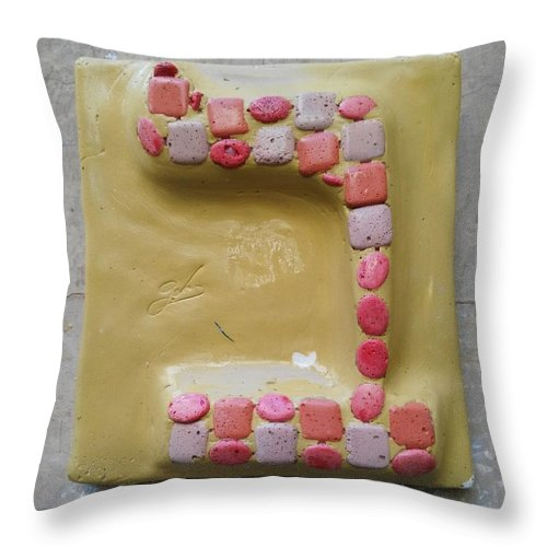 BET Bologna - Throw Pillow - ALEFBET - THE HEBREW LETTERS ART GALLERY