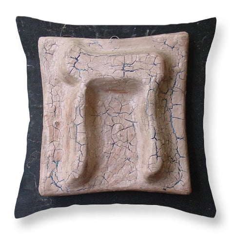 CHET desert  - Throw Pillow - ALEFBET - THE HEBREW LETTERS ART GALLERY