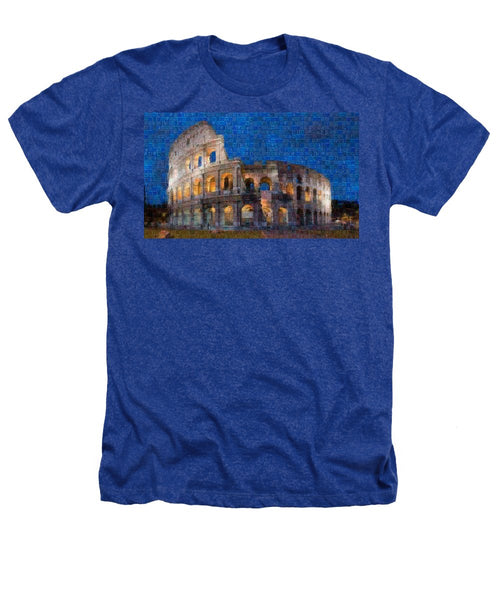 Colosseum at night - Heathers T-Shirt - ALEFBET - THE HEBREW LETTERS ART GALLERY