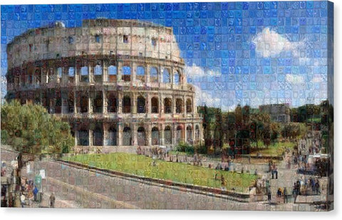 Colosseum - Canvas Print - ALEFBET - THE HEBREW LETTERS ART GALLERY