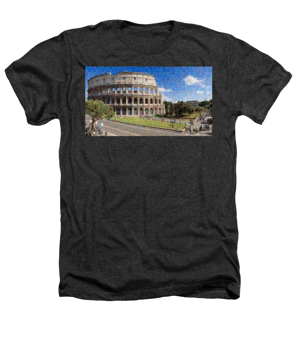 Colosseum - Heathers T-Shirt - ALEFBET - THE HEBREW LETTERS ART GALLERY