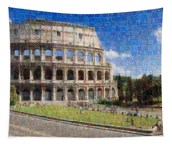 Colosseum - Tapestry - ALEFBET - THE HEBREW LETTERS ART GALLERY