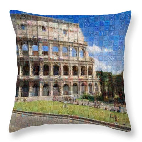 Colosseum - Throw Pillow - ALEFBET - THE HEBREW LETTERS ART GALLERY