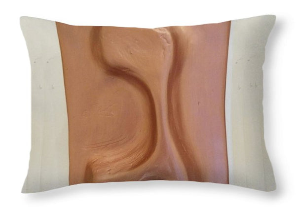 Copper GIMEL - Throw Pillow - ALEFBET - THE HEBREW LETTERS ART GALLERY