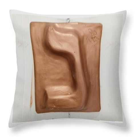 Copper NUN - Throw Pillow - ALEFBET - THE HEBREW LETTERS ART GALLERY