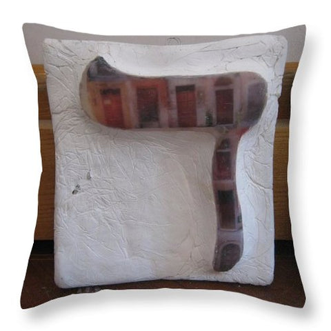 DALET doors - Throw Pillow - ALEFBET - THE HEBREW LETTERS ART GALLERY