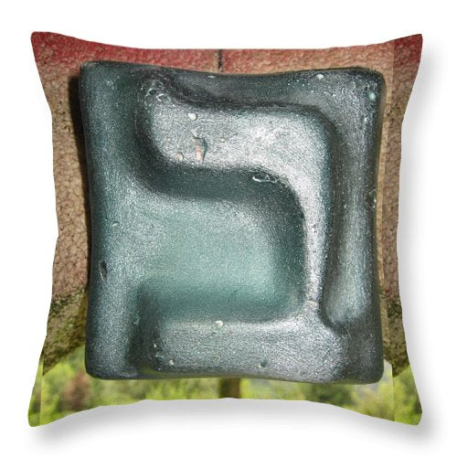 Green BET - Throw Pillow - ALEFBET - THE HEBREW LETTERS ART GALLERY