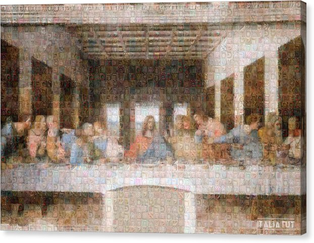 Last Supper - Canvas Print - ALEFBET - THE HEBREW LETTERS ART GALLERY