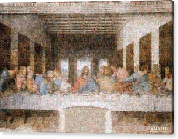 Last Supper - Acrylic Print - ALEFBET - THE HEBREW LETTERS ART GALLERY