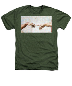 Michelangelo fingers - Heathers T-Shirt - ALEFBET - THE HEBREW LETTERS ART GALLERY