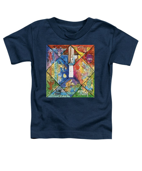 Omaggio a Lele Luzzati - Toddler T-Shirt - ALEFBET - THE HEBREW LETTERS ART GALLERY