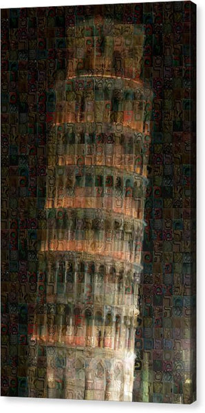 Pisa Tower - Canvas Print - ALEFBET - THE HEBREW LETTERS ART GALLERY