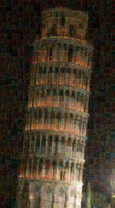 Pisa Tower - Art Print - ALEFBET - THE HEBREW LETTERS ART GALLERY