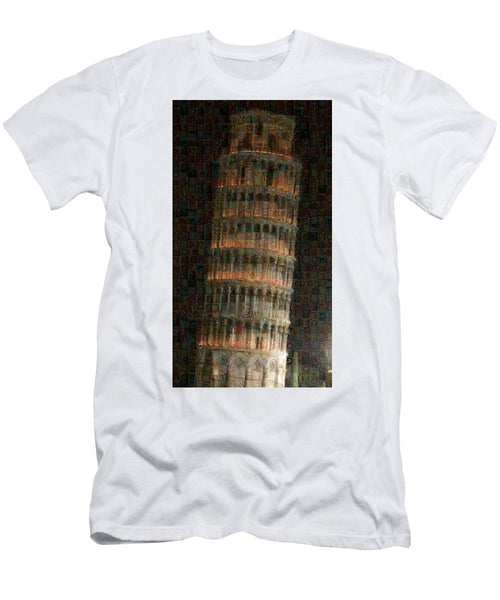 Pisa Tower - T-Shirt - ALEFBET - THE HEBREW LETTERS ART GALLERY