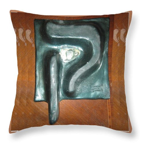 QOF,monkey - Throw Pillow - ALEFBET - THE HEBREW LETTERS ART GALLERY