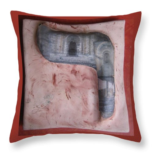 RESH,aibot avar - Throw Pillow - ALEFBET - THE HEBREW LETTERS ART GALLERY