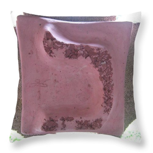 Rose KAF - Throw Pillow - ALEFBET - THE HEBREW LETTERS ART GALLERY