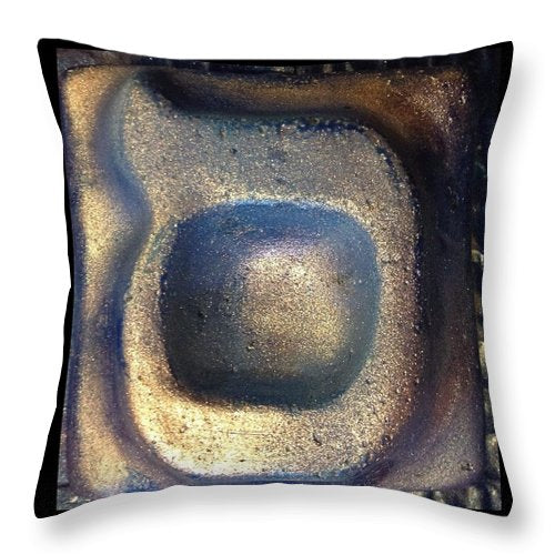 SAMEKH blu planet - Throw Pillow - ALEFBET - THE HEBREW LETTERS ART GALLERY