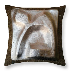 Silver MEM - Throw Pillow - ALEFBET - THE HEBREW LETTERS ART GALLERY