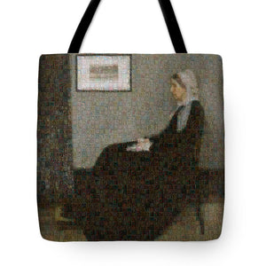 Tribute to Abbott - Tote Bag - ALEFBET - THE HEBREW LETTERS ART GALLERY