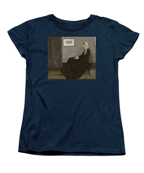 Tribute to Abbott - Women's T-Shirt (Standard Fit) - ALEFBET - THE HEBREW LETTERS ART GALLERY