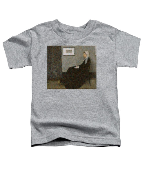 Tribute to Abbott - Toddler T-Shirt - ALEFBET - THE HEBREW LETTERS ART GALLERY
