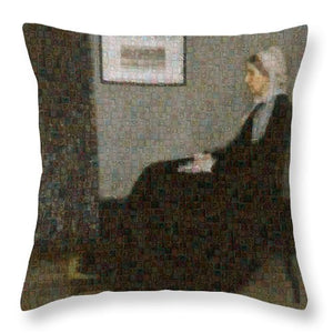 Tribute to Abbott - Throw Pillow - ALEFBET - THE HEBREW LETTERS ART GALLERY