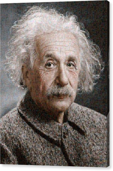 Tribute to Albert Einstein - Canvas Print - ALEFBET - THE HEBREW LETTERS ART GALLERY