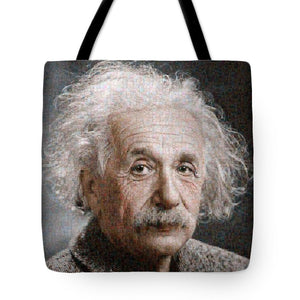 Tribute to Albert Einstein - Tote Bag - ALEFBET - THE HEBREW LETTERS ART GALLERY