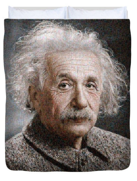 Tribute to Albert Einstein - Duvet Cover - ALEFBET - THE HEBREW LETTERS ART GALLERY