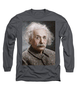 Tribute to Albert Einstein - Long Sleeve T-Shirt - ALEFBET - THE HEBREW LETTERS ART GALLERY