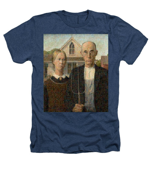 Tribute to American Gothic - Heathers T-Shirt - ALEFBET - THE HEBREW LETTERS ART GALLERY