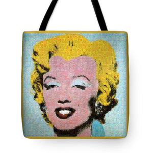 Tribute to Andy Warhol - 1 - Tote Bag - ALEFBET - THE HEBREW LETTERS ART GALLERY