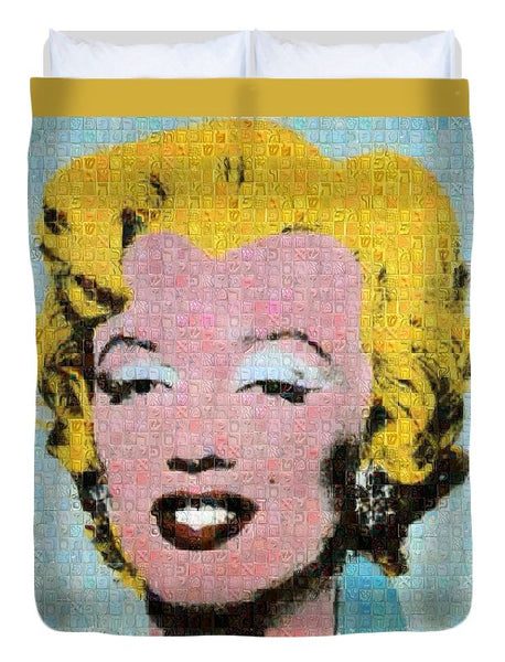Tribute to Andy Warhol - 1 - Duvet Cover - ALEFBET - THE HEBREW LETTERS ART GALLERY