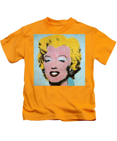 Tribute to Andy Warhol - 1 - Kids T-Shirt - ALEFBET - THE HEBREW LETTERS ART GALLERY