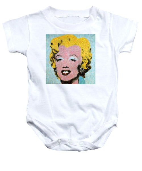 Tribute to Andy Warhol - 1 - Baby Onesie - ALEFBET - THE HEBREW LETTERS ART GALLERY