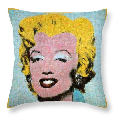 Tribute to Andy Warhol - 1 - Throw Pillow - ALEFBET - THE HEBREW LETTERS ART GALLERY