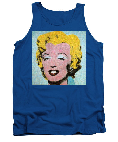 Tribute to Andy Warhol - 1 - Tank Top - ALEFBET - THE HEBREW LETTERS ART GALLERY