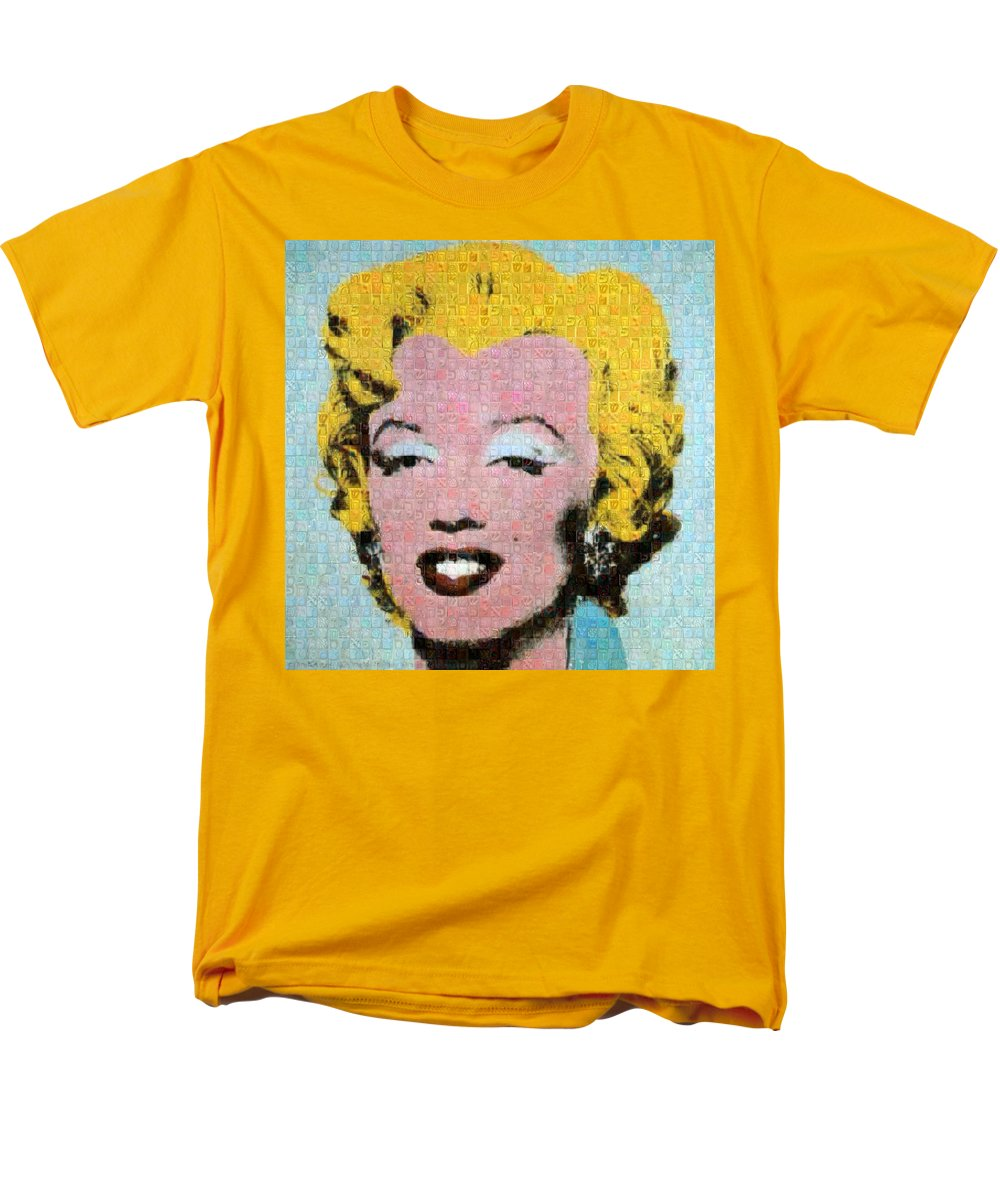 Tribute to Andy Warhol - 1 - Men's T-Shirt  (Regular Fit) - ALEFBET - THE HEBREW LETTERS ART GALLERY
