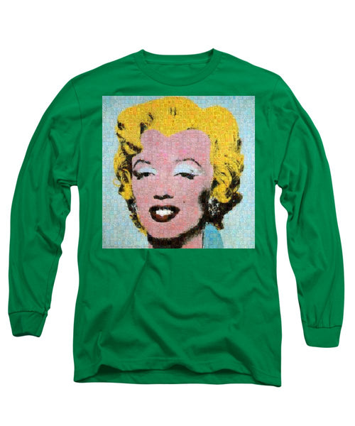 Tribute to Andy Warhol - 1 - Long Sleeve T-Shirt - ALEFBET - THE HEBREW LETTERS ART GALLERY