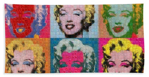 Tribute to Andy Warhol - 2 - Bath Towel - ALEFBET - THE HEBREW LETTERS ART GALLERY